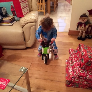 Week 25 Christmas Update - Little Man Opening his Gifts