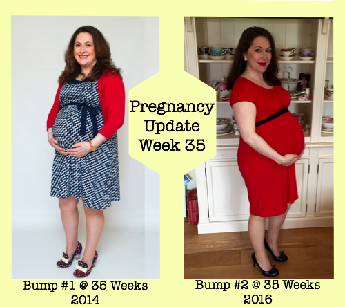 Pregnancy Update Week 35 - Bump 1 and 2 Photos