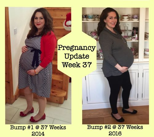 Pregnancy Update Week 37 Bump #1 and #2 Photos