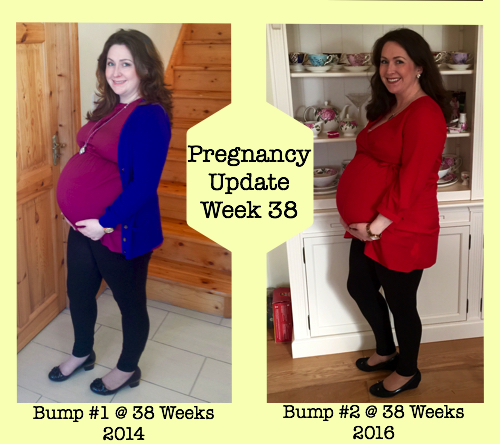 Pregnancy Update Week 38 - Bump 1 and 2 Photo Comparisons