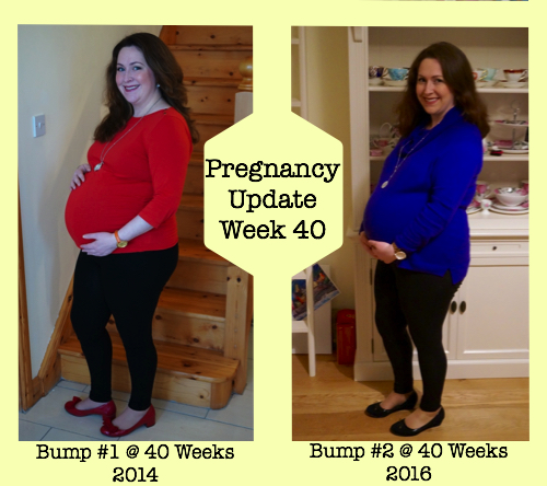Pregnancy Update Week 40 - Comparison of Bumps on my First and Second Pregnancy